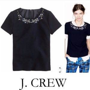 Navy jeweled shirt